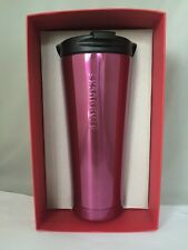 Starbucks Pink Stainless Steel Tumbler 16 oz 2015 NWT! Red Box!