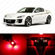 8 x Brilliant Red LED Interior Lights Package For 2004 - 2011 Mazda RX-8 RX8