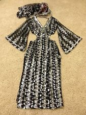 Belly dance Gypsy Cabaret Costume/dress professional Egypt Silver/Black S M L