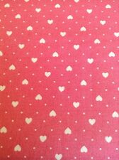 1 x Fat Qtr Sugar Pink Hearts 100% Cotton Makower Fabric Sewing/Quilting