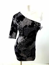 NWT DO & BE WOMENS BLACK & SILVEER POLYESTER DANCING CLUB DRESS SIZE M FABULOUS!