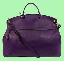 FURLA PIPER Aubergine Leather Satchel/Shoulder Bag Msrp $498.00