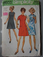 60s Panelled Shift Dress Vtg Sewing Pattern Simplicity 8603 Bust 35