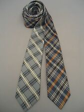 Lot of 2 Skinny Neck Ties AN ORIGINAL PENGUIN Plaid Blue Coral Silver
