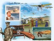 Louis Bleriot & Planes aircraft biplane Guinea-Bissau 2009 Mi. Bl.736 # GB9606b