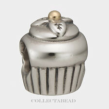 Authentic Pandora Sterling Sterling Silver & 14k Cupcake Bead  790417
