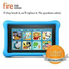 Amazon Fire Kids Edition Kindle 7 in Wi-Fi 16 GB - Blue Kid Proof Case