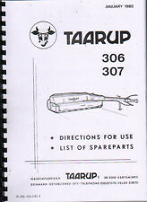 Taarup 306 and 307 Mower Conditioner Operator Instruction Parts Manual Book