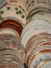 Job lot of 50 Vintage Mismatched Tea/Side Plates - Weddings, Parties