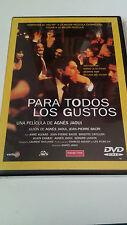"""DVD """"PARA TODOS LOS GUSTOS"""" PRECINTADA AGNES JAOUI JEAN PIERRE BACRI"""