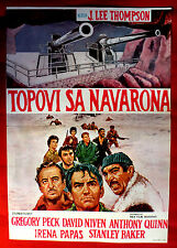 THE GUNS OF NAVARONE 1961 GREGORY PECK ANTHONY QUINN UNIQUE EXYU MOVIE POSTER #2