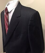 Brioni Men's Jacket Navy Blue size 46L Classic Blazer Beautiful Plaid And Check