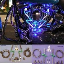 NEON MAGIC SPARK PLUG WIRE SET CLEAR BLUE HARLEY MOTORCYCLE