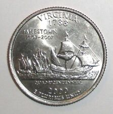 2000 US Stare Quarter, 25 cents, Virginia Ships coin