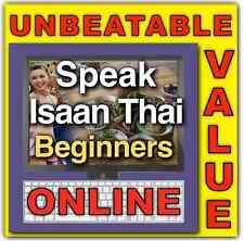 Learn Isaan Thai Language Online (clickable audio, slides, flash cards) 50% OFF!
