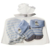 Carters Newborn Baby Boy Puppy Mittens & Booties Gift Set Socks Blue