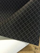 Black With Grey Pattern Car Van Truck Auto Upholstery Cloth Material Fabric