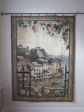 "Manual Woodworkers and Weavers Tapestry Wall Hanging 76"" x 55"" South Town"