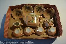 Ancien jeu jouet Toy Tea Set Dolly lunch jeu de dinette