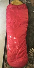 Sierra Designs Down Sleeping Bag Vintage Red Gold Beige  mummy sack