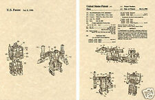 Transformers ULTRA MAGNUS US Patent Art Print READY TO FRAME! 1986 Decepticon