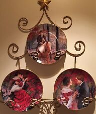 lot of 3~Signature Collection Plates by Rob Sauber Embrace, Taylor, Rendezvous