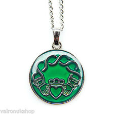 Celtic Claddagh Design Mood Colour Changing Necklace in Gift Box