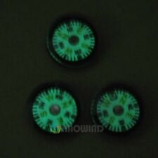 Wholesale Lot 12pcs Mini 20mm Diameter Glow in Dark Luminous Button Compass