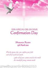 Personalised Girl Confirmation Card Design 10