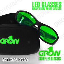 Grow1 GRUVE LED Glasses Grow Room Ultra Violet Eliminators STOP THOSE HEADACHES