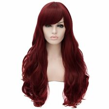Women Cosplay Long Curly Wavy Full Hair Wigs Party Anime Costume Wigs