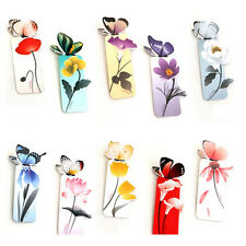 6x Exquisite Colors Butterfly Books Comics Magazines Bookmarks Reading Tools JSU