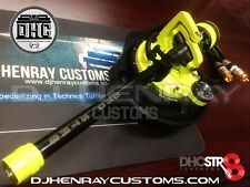 DHC STR8 TONE ARM Assembly Technic 1200 black/yellowgreen 24kt gld rcas int grnd