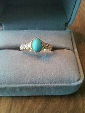 14k Yellow Gold Ring With A Turquoise Stone Size 7.5
