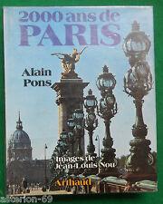 2000 ANS DE PARIS ALAIN PONS JEAN LOUIS NOU ARTHAUD