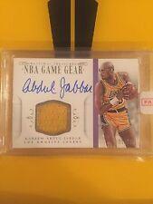 2014-15 National Treasures Kareem Abdul Jabbar NBA Game Gear Jersey Auto 21/25