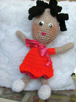 HANDMADE COLORFUL  WOOL CROCHETED  DOLL ONE OF A KIND DIRECTLY FROM  ARTIST