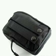 ^1% BLACK COMPACT EDC 1050D MOLLE POUCH BUSHCRAFT SURVIVAL KITS CAMPING AIRSOFT