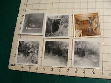 original old photos of TRAIN ENGINE  in the woods,