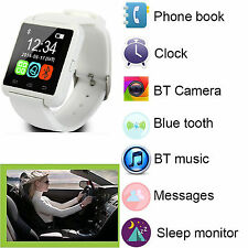 White Bluetooth Wrist Smart Watch For Samsung Galaxy S6 S5 Note 4 5 LG G4 G3 G2