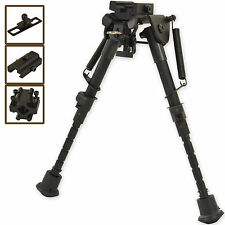 "6"" - 9"" Harris Style Bipod for Hunting Shooting Air Rifle Gun With Free 3 Adapte"