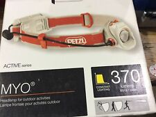 Petzl MYO 370 Lumens Powerful multi-beam headlamp E87AHB C NEW