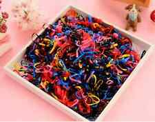 500pcs Mixed Color Rubber Ponytail Holder Elastic Hair Band Ties Hairband Rope