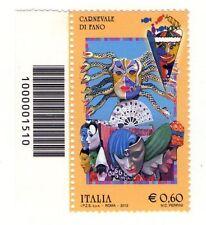 1510 CODICE A BARRE SINISTRO O DESTRO A SCELTA  CARNEVALE DI FANO 0,60 ANNO 2013