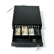 Steel RJ12 Cash Drawer Removable Bill tray 2 Coins compartments for Epson/POS