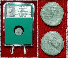 Ancient GREEK Coin THRACE MARONEIA Galloping Horse Obverse Grapes On Reverse