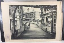 Irving K Samuels WPA Art 1941 Signed LE Print Chinatown Lithograph File Proof