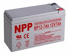 NPP 12V 7AH Sealed Lead Acid Battery For APC ES500 ES550 LS500 RBC110 RBC2 F2