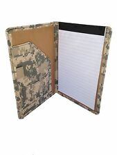 Digital Camouflage Padfolio with Writing Note Pad and Business Card Camo Folder