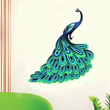 Asmi Collections Wall Stickers Beautiful Peacock